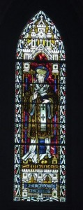 Stained glass window in St Nicholas church